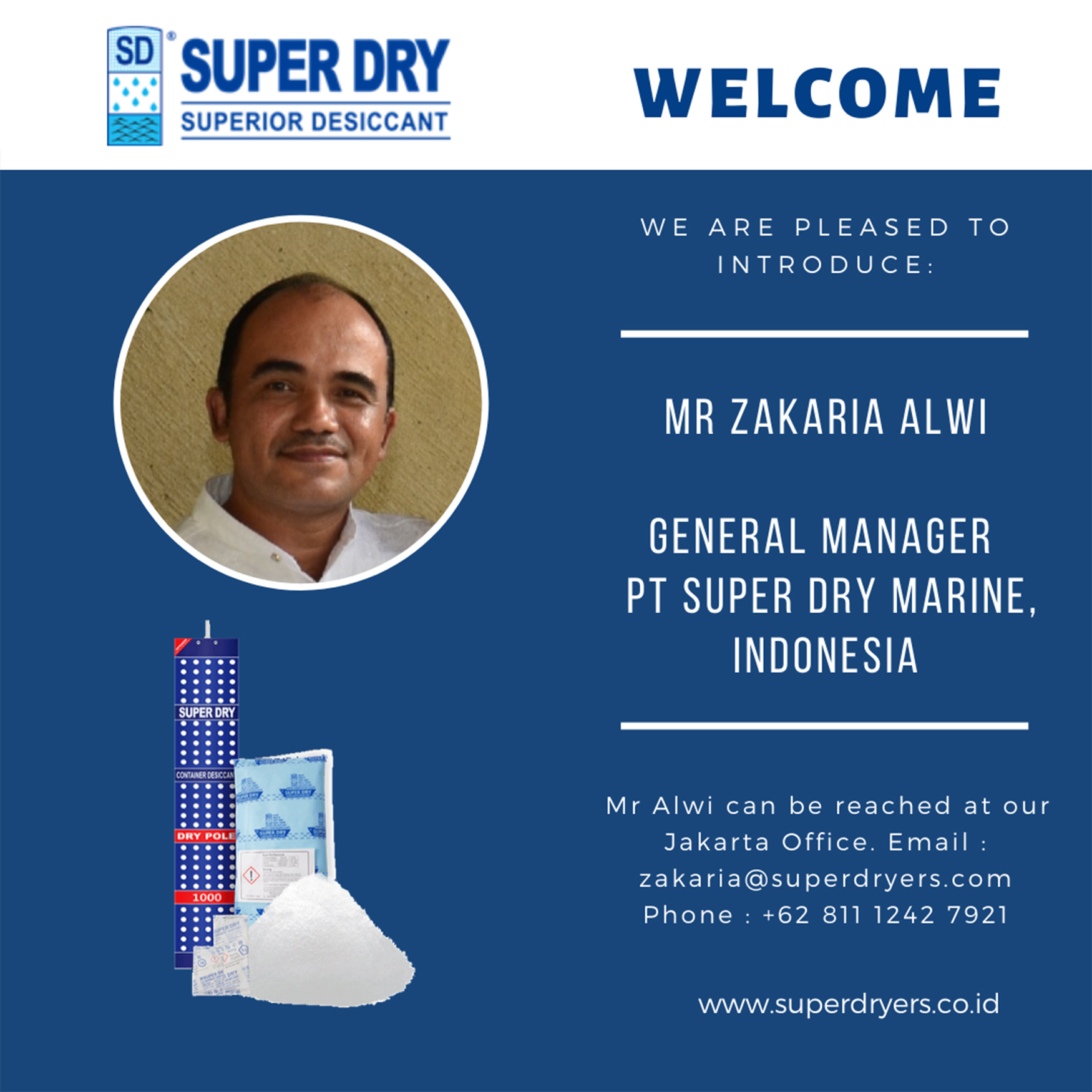 Announcement for new General Manager of PT Super Dry Marine